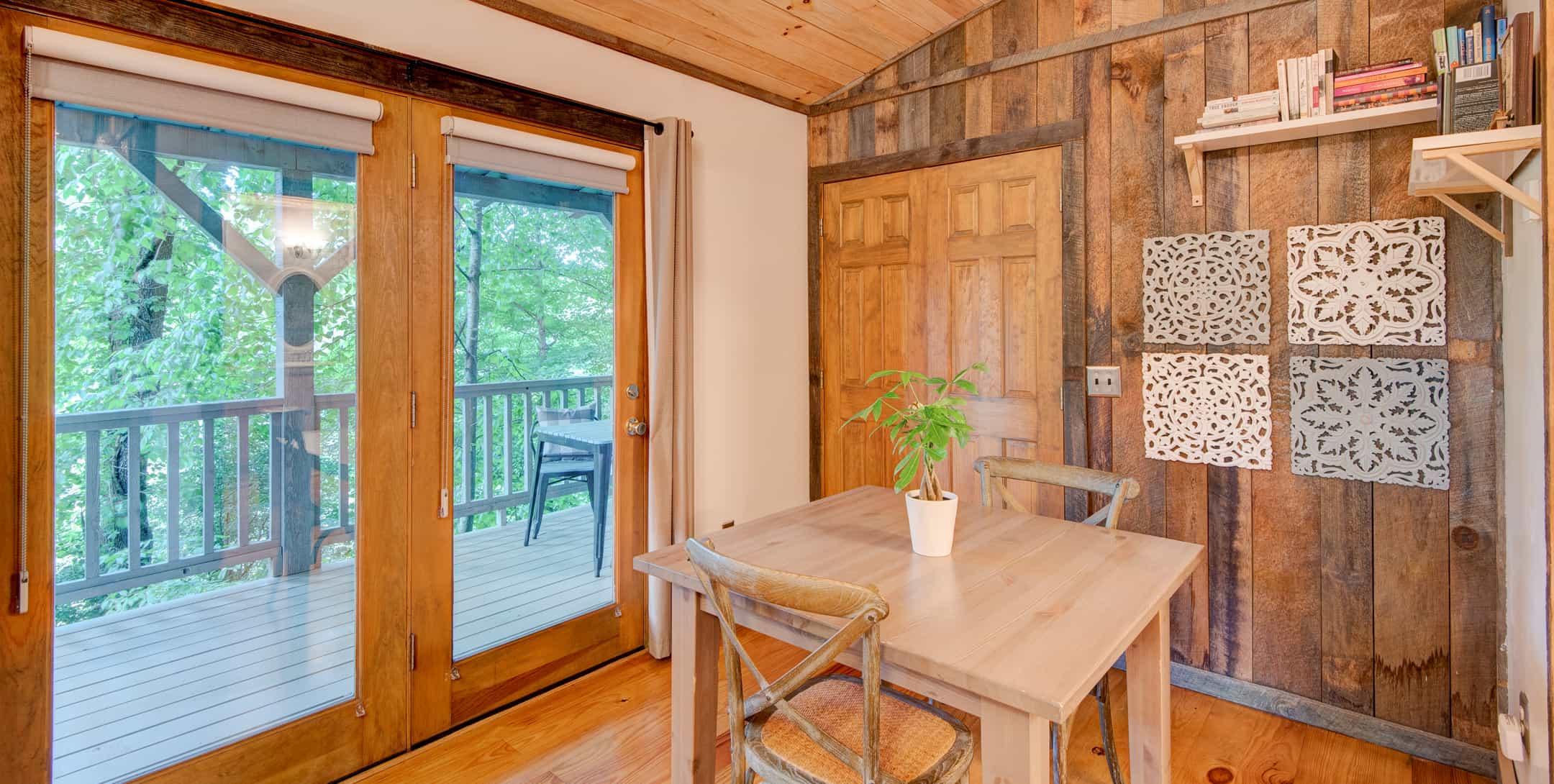 Kitchenette in the Gazebo Cabin