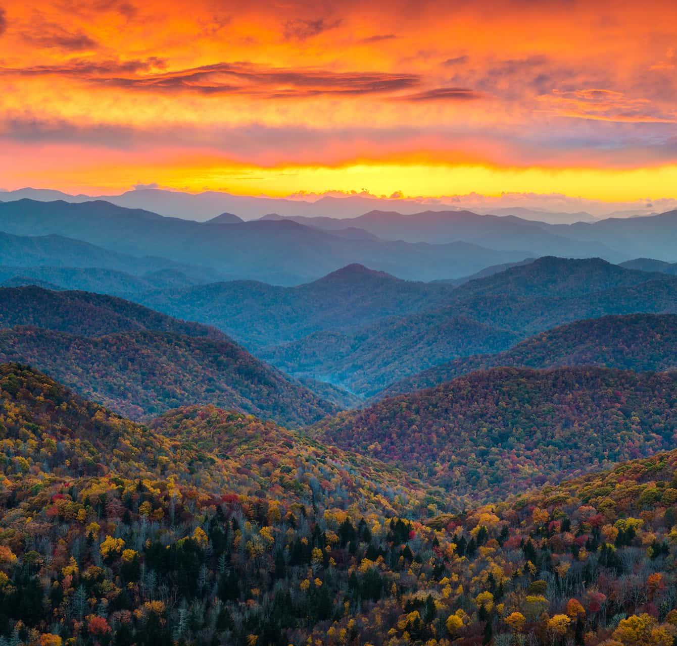 Blue Ridge Mountains in North Carolina