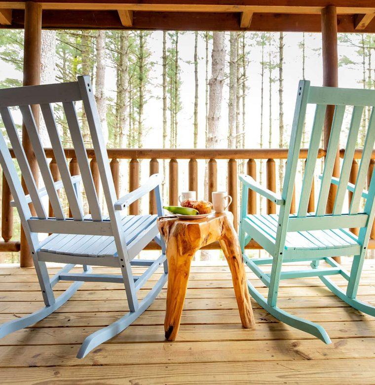 Mam's Refuge Deck at our North Carolina cabin rentals