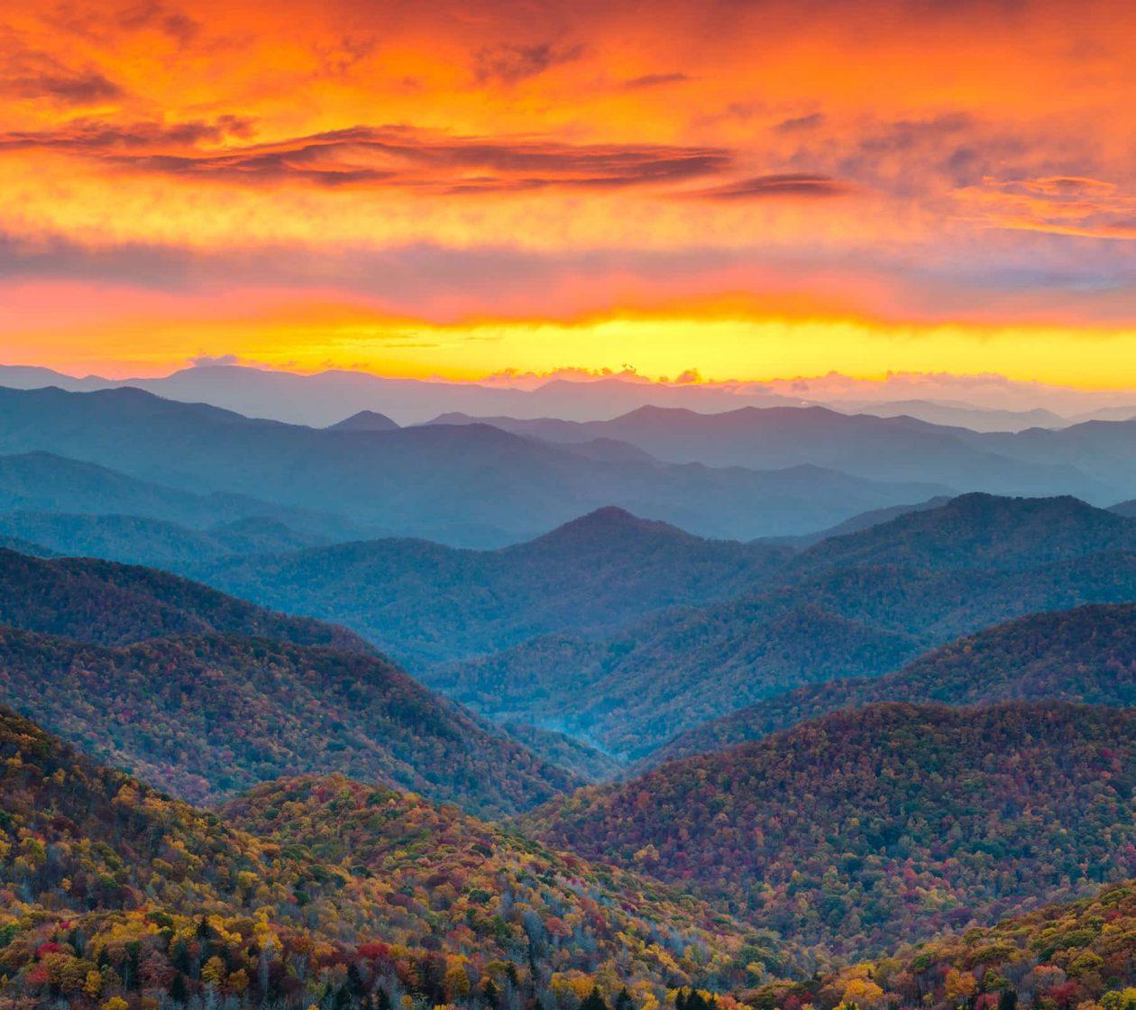 Blue Ridge Mountains near our North Carolina Cabin Rentals